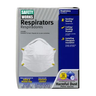 PIP Safety Works N95 Harmful Dust Disposable Respirator