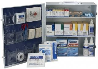 First Aid Only 100 Person ANSI A+ Metal First Aid Cabinet