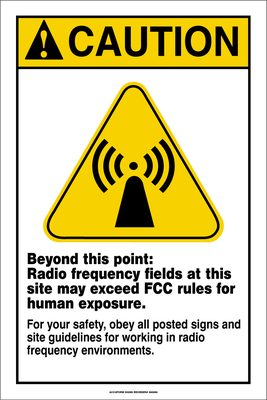 Accuform Radio frequency Fields Caution Sign - Caution Yellow
