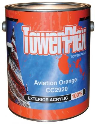 TowerPlex Aviation Orange Tower Paint - 1 Gallon Pail