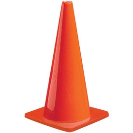 12 Inch PVC Traffic Cone without Reflective Collars