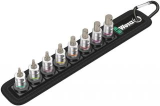 Wera Tools Belt A 2 Zyklop In-Hex-Plus Bit Socket Set with Holding Function, 1/4 Inch Drive, 8 Pieces
