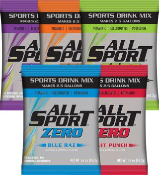 All Sport Zero Powder Drink Mix - Individual Packs and 2.5 Gallon Packets