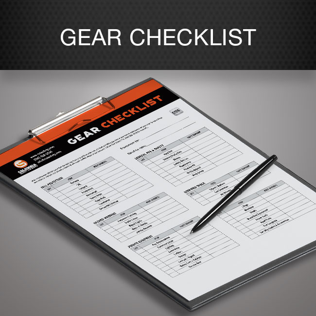 Gear Checklist by Columbia Safety and Supply