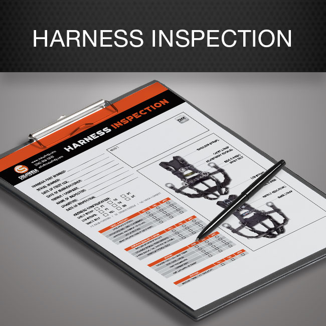 Harness inspection form by Columbia Safety and Supply