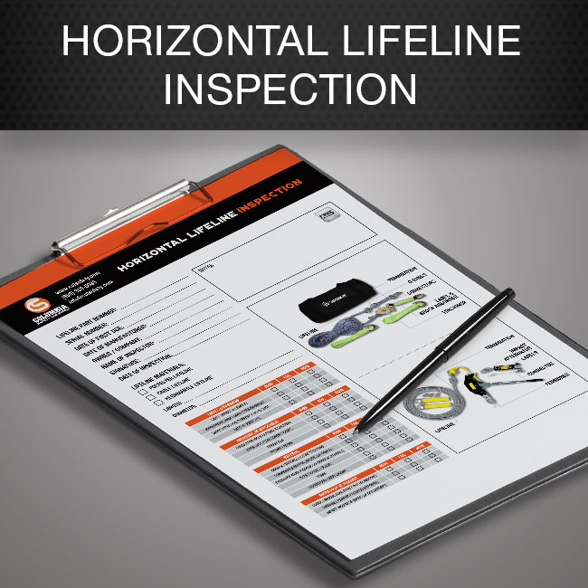 Horizontal lifeline inspection form by Columbia Safety and Supply