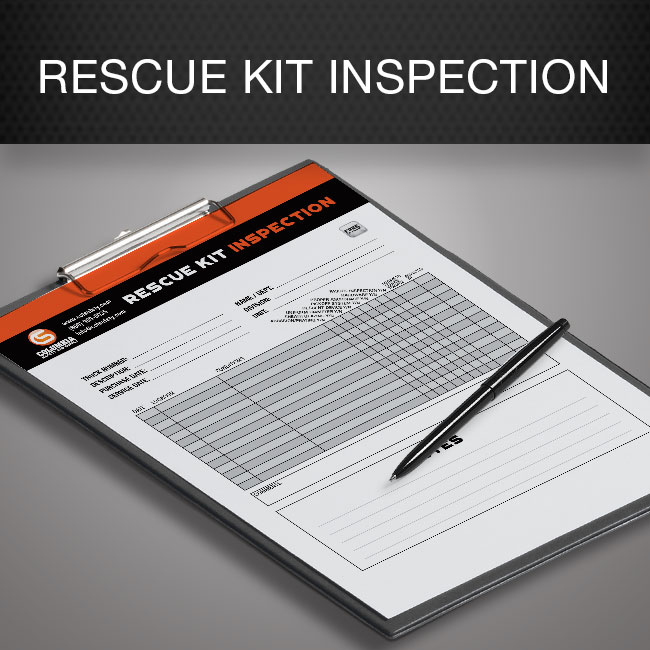 Rescue kit inspection form by Columbia Safety and Supply