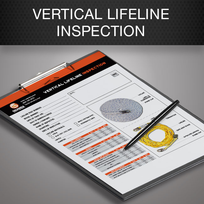 vertical lifeline inspection form by Columbia Safety and Supply