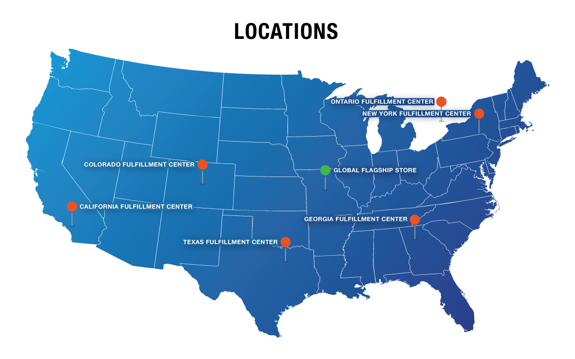 Columbia Safety and Supply has store front distribution in 4 locations and nearly a dozen distribute warehouses across the United States