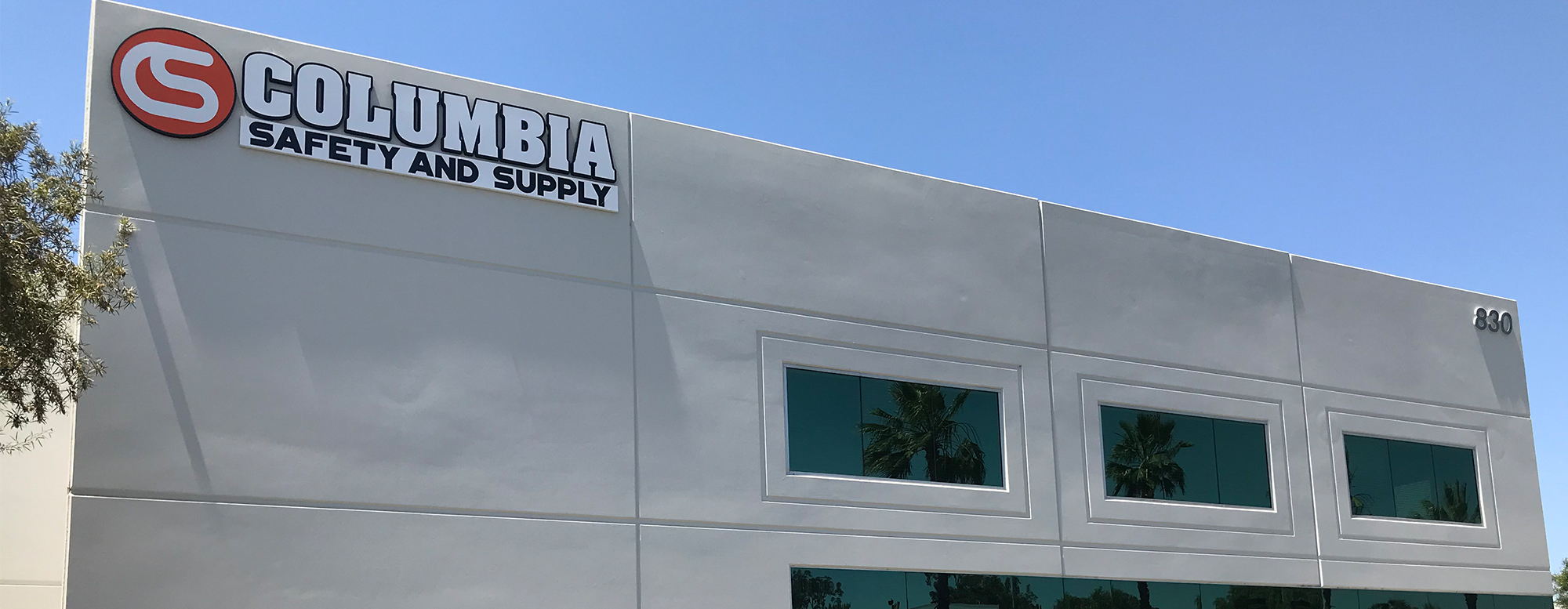 Columbia Safety and Supply's Storefront & Distribution Center located in Corona (Los Angeles), CA