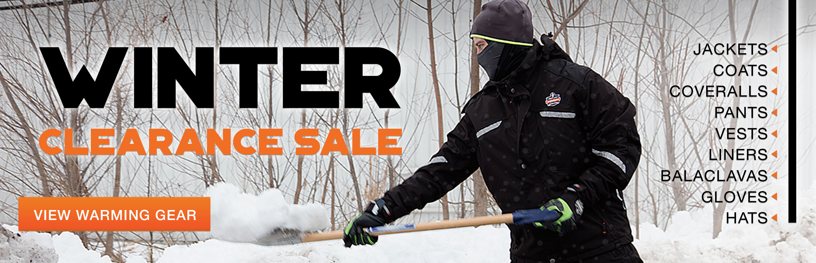 Winter work gear clearance sale from Columbia Safety and Supply