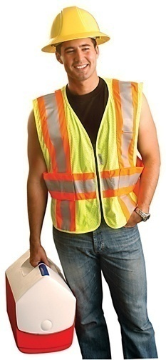 LUX-SC2TZ OccuNomix High Visibiliity Yellow Safety Vest LUX SC2TZ from Columbia Safety