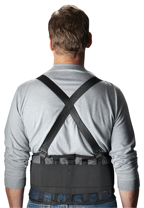 PIP Black Mesh Back Support Belt from Columbia Safety