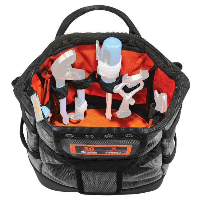 Ergodyne Arsenal 5517 Topped Tool Pouch with Snap-Hinge Zipper Closure from Columbia Safety