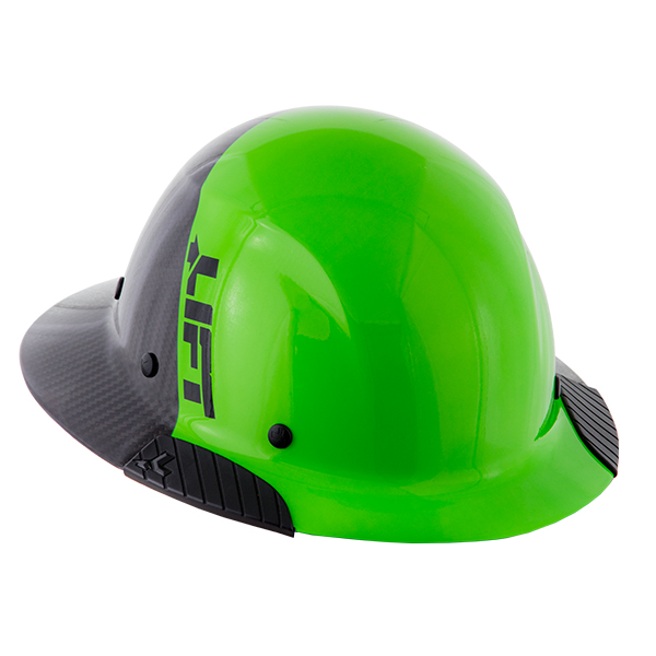 Lift Safety Dax Composite Full Brim Hard Hat - Columbia Safety Exclusive Green/Black from Columbia Safety