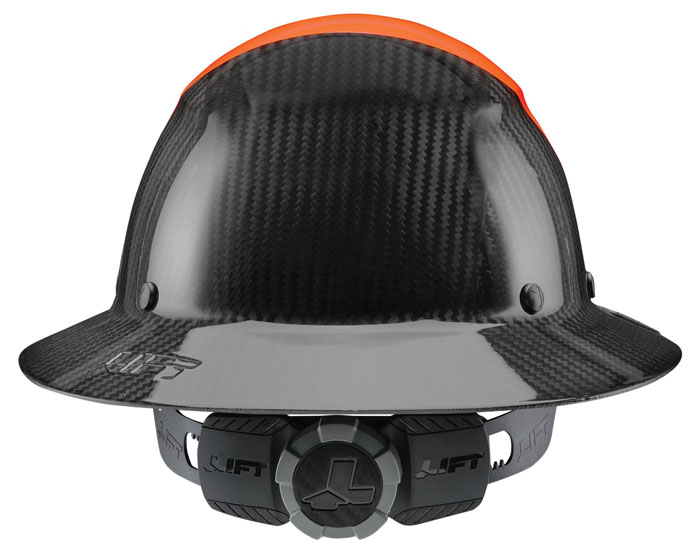 Lift Safety DAX Fifty 50 Carbon Fiber Full Brim Hardhat from Columbia Safety