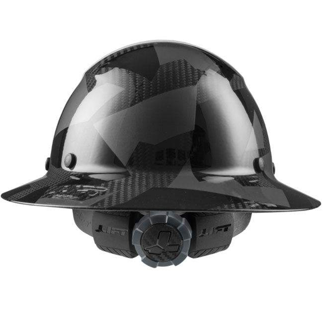 Lift Safety DAX Carbon Fiber 50/50 White/Black Camo Full Brim Hard Hat from Columbia Safety