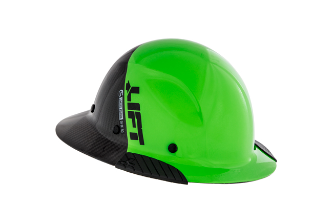 Lift Safety DAX Fifty 50 Green Carbon Fiber Full Brim Hard Hat (Columbia Safety and Supply Limited Edition) from Columbia Safety