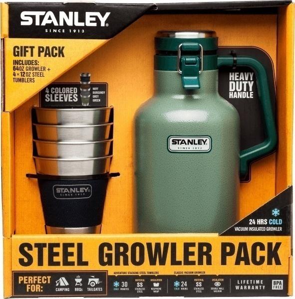 Stanley 2 QT Classic Vacuum Growler & Tumblers Gift Set