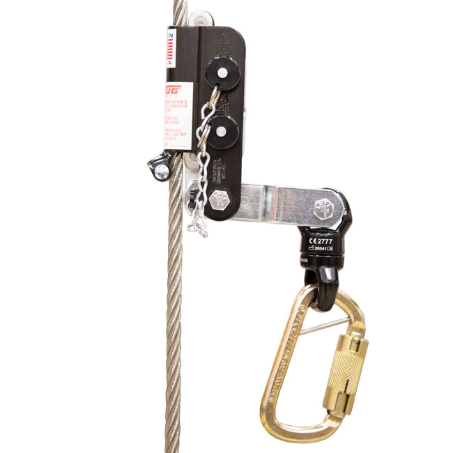 Tuf-Tug 3/8 Inch Wire Grab Fall Arresters with Swivel from Columbia Safety