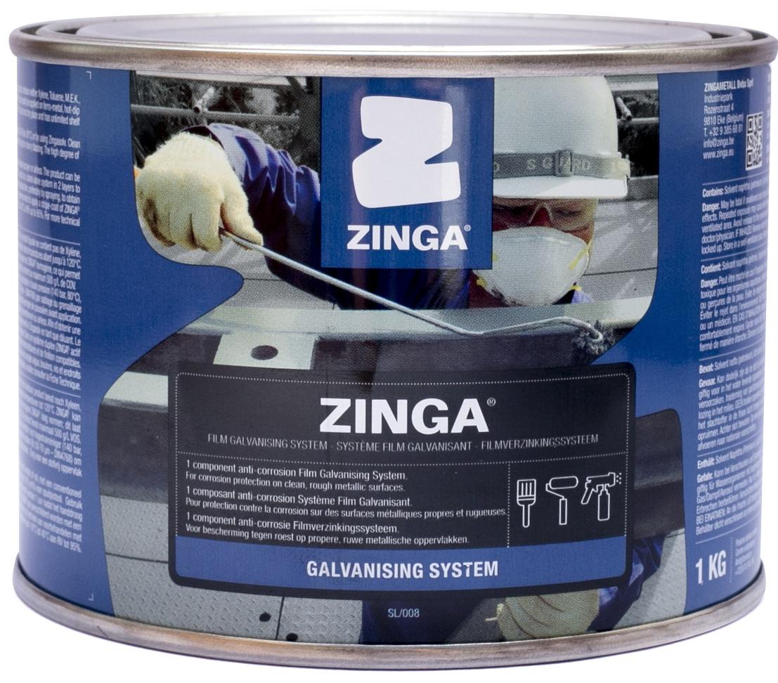 Zinga Z1 Zinc Film Cold Galvanizing Coating - 12 5 Ounces